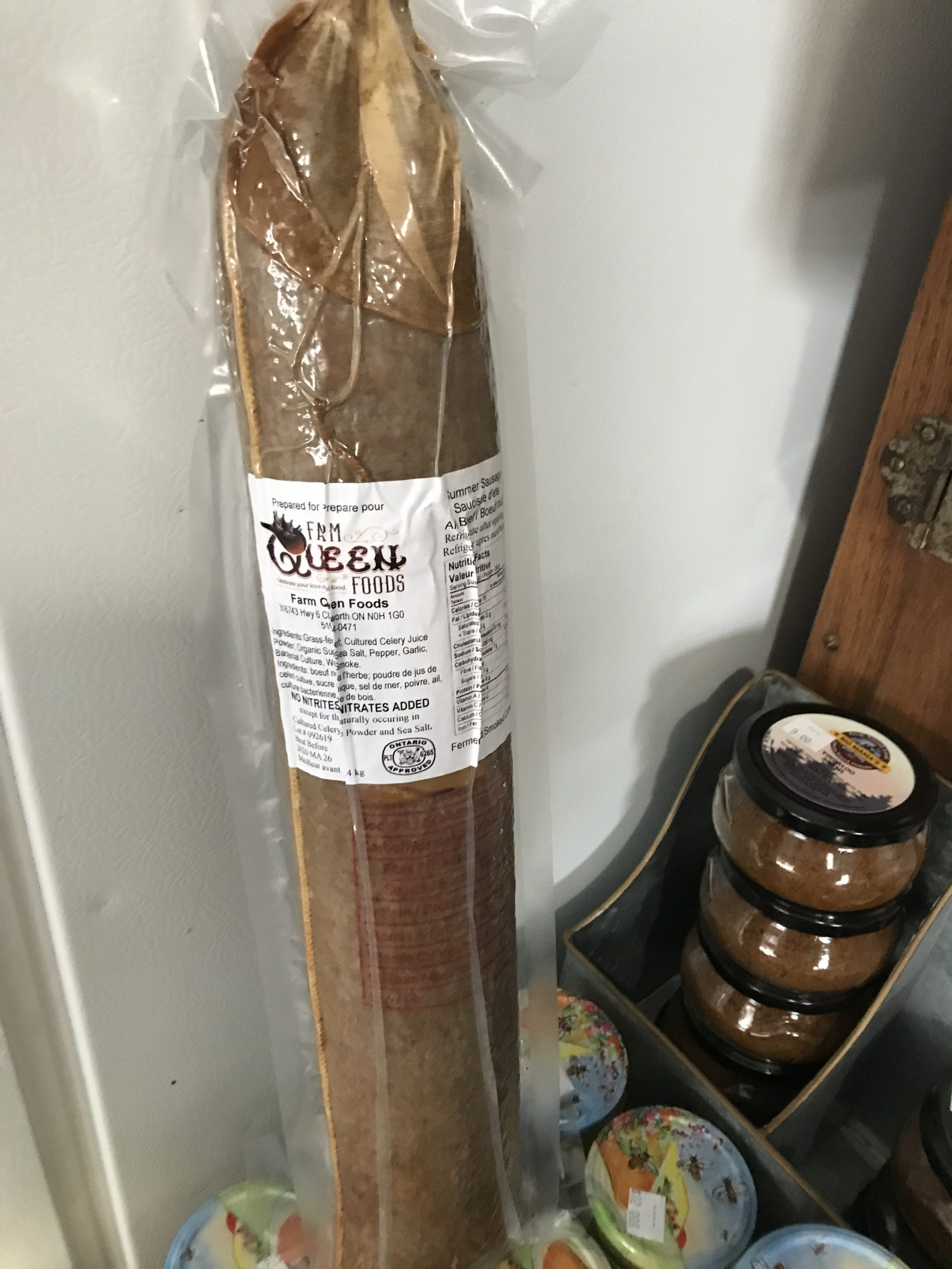 FULL SLEEVE - Summer Sausage - Grass-fed Beef